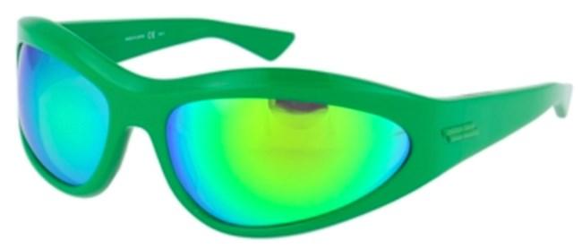 Γυαλιά ηλίου Bottega Veneta με πράσινο σκελετό.