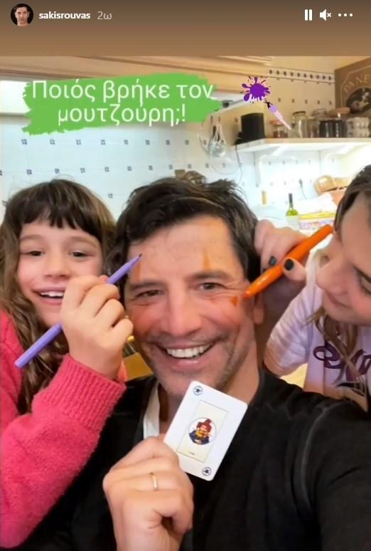 Η οικογενειακή φωτογραφία του Σάκη Ρουβά με τις κόρες του!