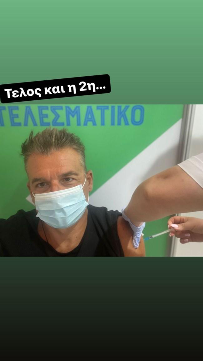 Ο Γιώργος Λιάγκας ολοκλήρωσε τον εμβολιασμό κατά του κορονοϊού