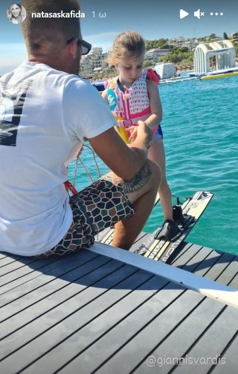 Γιάννης Βαρδής | Δείτε την 5χρονη κόρη του να κάνει θαλάσσια σπορ