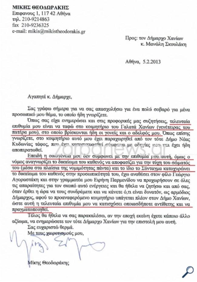 Θρίλερ με την κηδεία του Μίκη Θεοδωράκη   Δικαστική απόφαση μπλοκάρει τα σχέδια της Μαργαρίτας να τον θάψει στο Βραχάτι