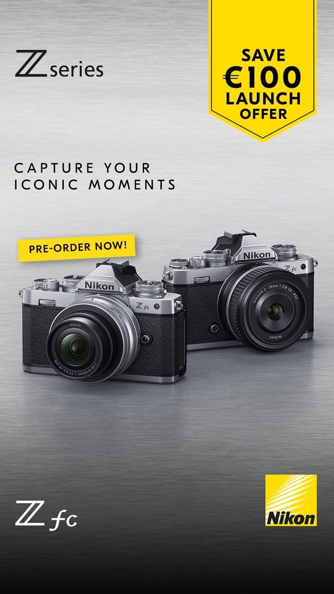 """LAUNCH OFFER"" με άμεση επιστροφή χρημάτων σε αγορές mirrorless φωτογραφικής μηχανής ή kit ΝΙΚΟΝ Z fc"