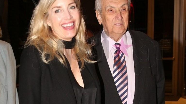 Ο Δημήτρης Κοντομηνάς με τη Laurie Holcombe στη Στέγη (1)