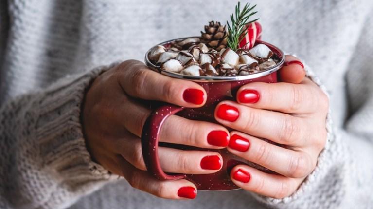 νύχια, χριστούγεννα