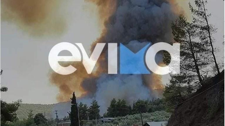 φωτιά στη Λίμνη Ευβοίας