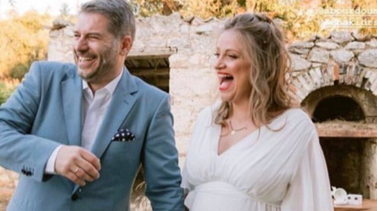 Λένα Δροσάκη - Αλέξανδρος Μπουρδούμης γάμος