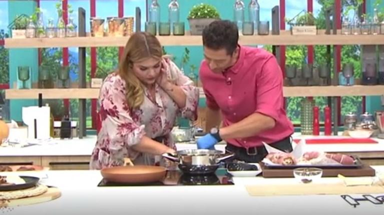 Απόστολος Ρουβάς & Δανάη Μπάρκα στην κουζίνα