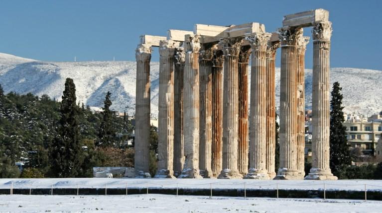 Αθήνα χιόνι