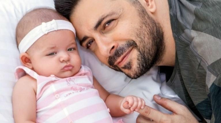 Ο Γιώργος Χειμωνέτος με την κόρη του