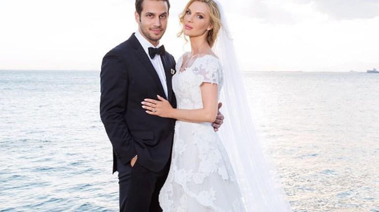 Χριστίνα Αλούπη-Κωνσταντίνος Κέφαλος στον γάμο τους