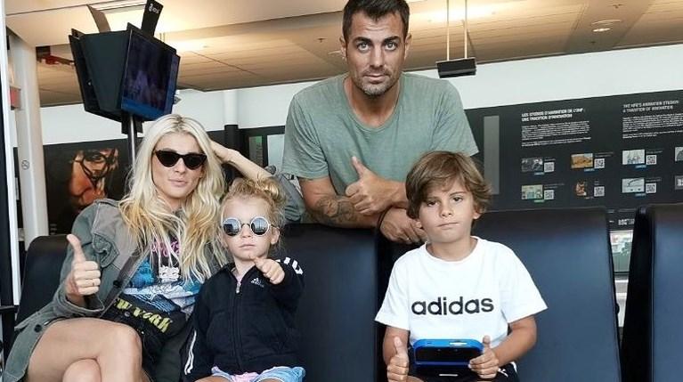 Στέλιος Χανταμπάκης & Όλγα Πηλιάκη με τα παιδιά τους
