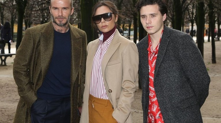 Victoria Beckham , David Beckham και Brooklyn Beckham