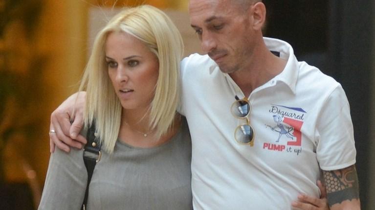 Ο Μπρούνο Τσιρίλο, η Έλενα Ασημακοπούλου και η κόρη τους, Μαρία Ροζάρια, στο Golden Hall (1)
