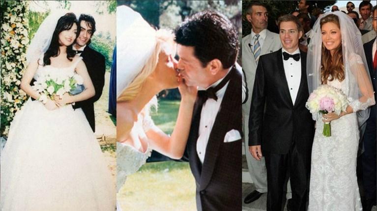 γάμοι ελληνικής showbiz collage