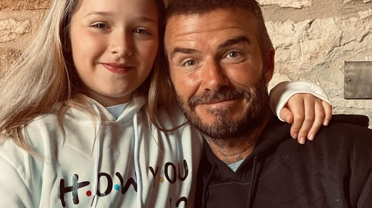 David Beckham & Harper Seven - Instagram