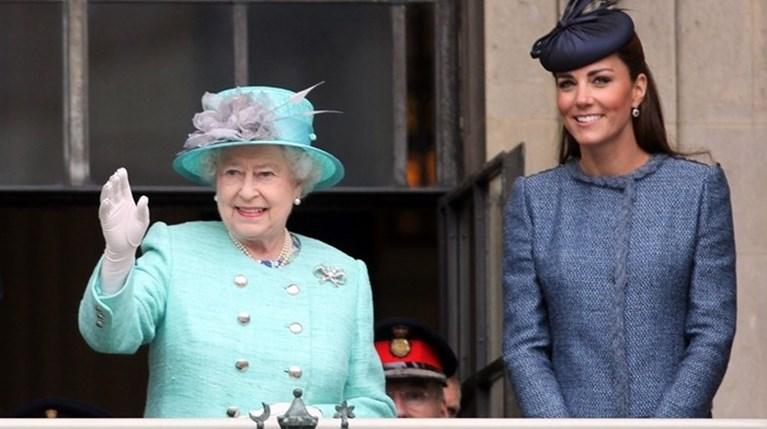 βασίλισσα Ελισάβετ - Kate Middleton