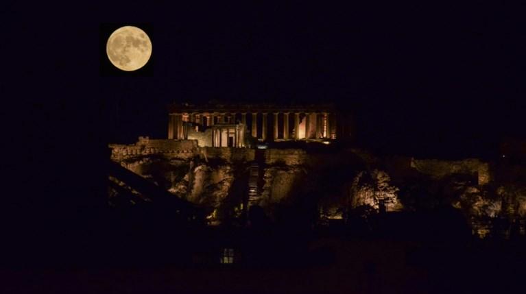 Πανσέληνος Αθήνα Ακρόπολη