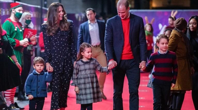 Kate Middleton, πρίγκιπας William, πρίγκιπα George, πριγκίπισσα Charlotte και πρίγκιπα Louis