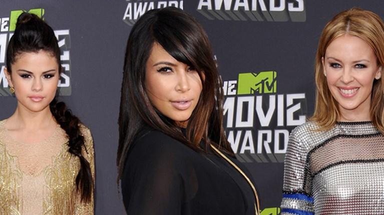 Σελένα Γκόμεζ - Καίλι Μινόγκ και Κιμ Καρντάσιαν Mtv Movie Awards