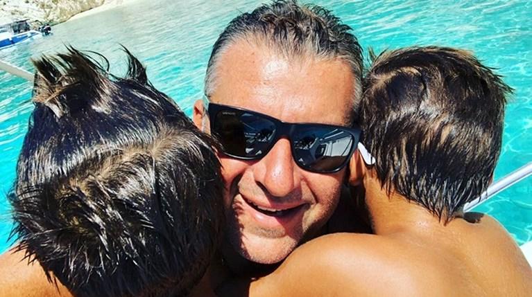 Γιώργος Λιάγκας με τα παιδιά του