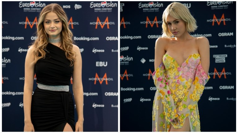 Stefania & Έλενα Τσαγκρινού έλαμψαν στο Turquoise χαλί της Eurovision