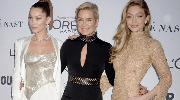 Bella Hadid, Yolanda Hadid & Gigi Hadid