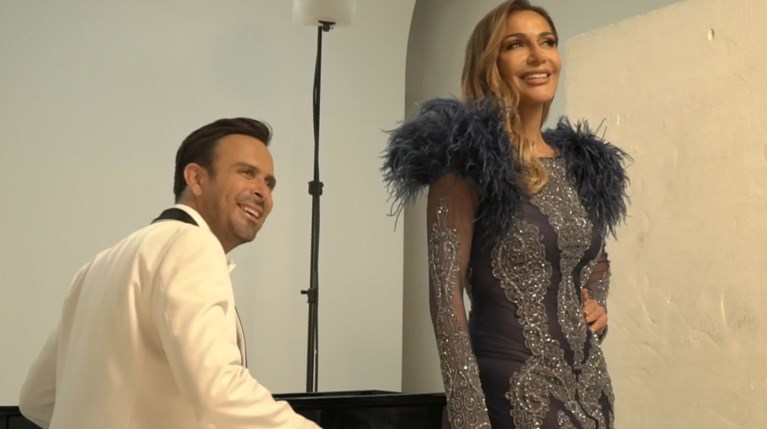 Backstage φωτογράφισης Δέσποινας Βανδή-Κωνσταντίνου Χριστοφόρου
