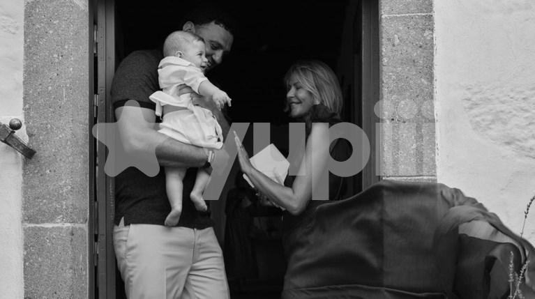 Βασίλης Κικίλιας & Τζένη Μπαλατσινού & μικρός γιος