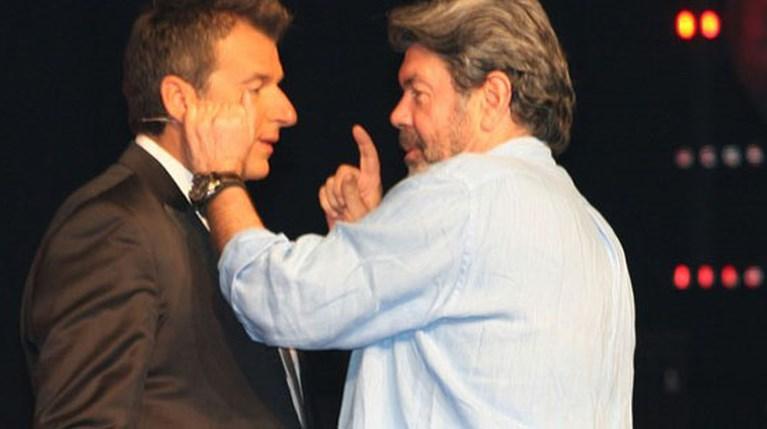 Ο Γιώργος Λιάγκας και ο Γιάννης Λάτσιος στον ημιτελικό του Voice