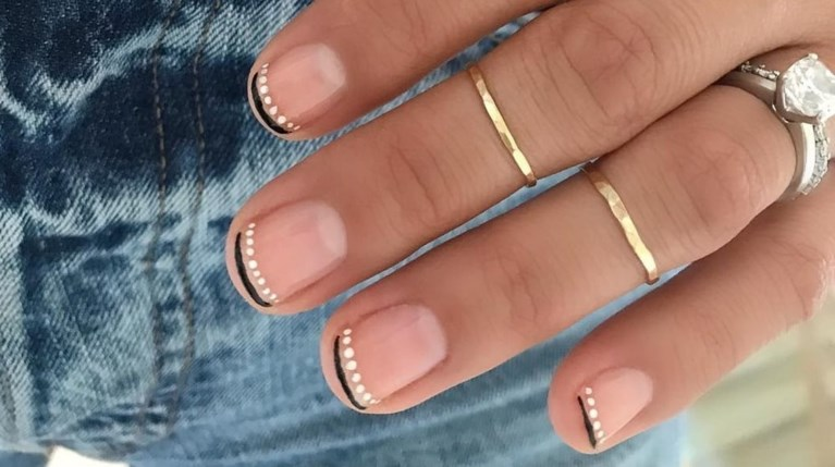 french moon nail art trend
