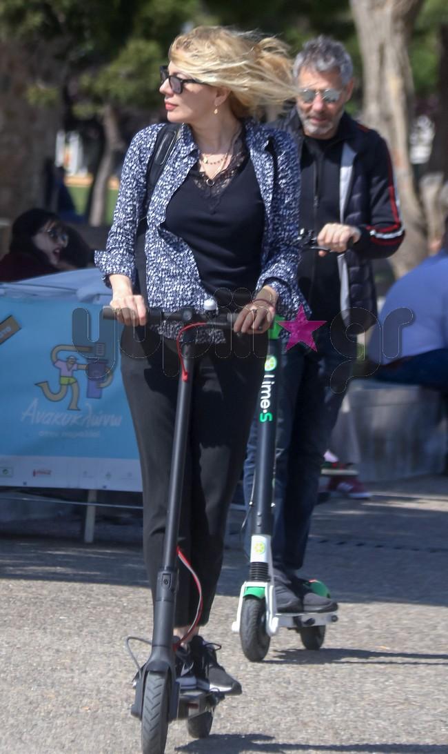 Σμαράγδα Καρύδη  Θοδωρής ΑθερίδηςΧαλαρές στιγμές στη Θεσσαλονίκη